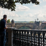 An der Moldau mit Blick zur Karlsbrücke