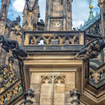 Figuren am Veitsdom in Prag
