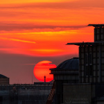 Sonnenuntergang in rot mit Superzoom