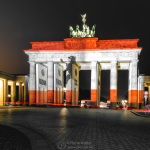 Brandenburger Tor // Berlin-Flagge