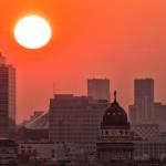 Sonnenuntergang in rot