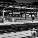 Bahnhof Wannsee schwarz-weiß