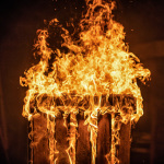 Brenennde Palette - Feuer Detail