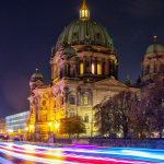 Berliner Dom Light Trails