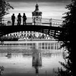 Schloss Charlottenburg / Brücke in S/W