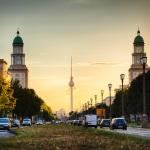 Sonnenuntergang auf der Frankfurter Allee