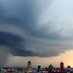 Shelfcloud über Berlin (Kontrastverstärkt)
