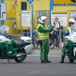 Polizeimotorradfahrer