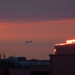 28.05.2012: Airplane in Sunset