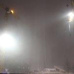 Nebel, 15.11.2012 (Baukräne und der Fernsehturm)