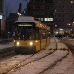 GT6Z im Schnee auf dem Alexanderplatz