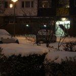 Holzmarktstr. 73 mit Schnee vorm Haus