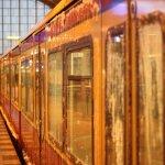 Eis an einer S-Bahn