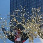 Weihnachtsdeko auf dem Alexanderplatz