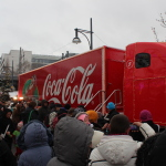 Coca Cola Weihnachtstruck am Alexa