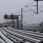 Erster Schneefall 2012/2013 - S-Bahn fährt (noch)