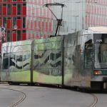 Straßenbahn im Naturlook