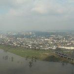 Düsseldorf-Oberkassel von oben / Blick vom Rheinturm