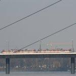U-Bahn / Straßenbahn auf Oberkasseler Brücke