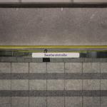Foto-Spielerei im Bahnhof Saarlandstraße