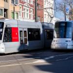 2x Rheinbahn-Straßenbahn NF8U