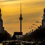 Sonnenuntergang Frankfurter Allee