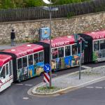 Dreifach-Gelenkbus (Stadtrundfahrt) in Erfurt