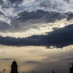 Wolke im Sonnenuntergang