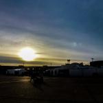 Sonnenuntergang in Tempelhof