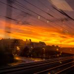 Die Fahrt ging weiter bei diesem Sonnenuntergang