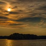 Sonnenuntergang am Tegler See