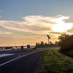 Autobahn A12 im Sonnenaufgang