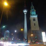Fernsehturm, Marienkirche, Mond, Alex
