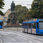 Max-Monument - 2 MVG-Trams