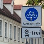 Interessante Fahrradstraße.