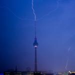 Gewitter / Blitzeinschlag Fernsehturm 12.10.2013
