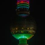 44. Geburtstag Fernsehturm: Mehrfarbig
