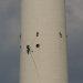 Bergsteiger am Fernsehturm