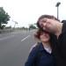Jenni und ich auf der BAB100