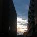 11.04.2012: Sunset between buildings