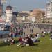 Frühling an der Rheinuferpromenade
