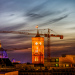 Rotes Rathaus - Sonnenuntergang (HDR-Spielerei)