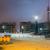 Friedrichbrücke im Schnee mit Fernsehturm