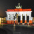 Brandenburger Tor // Berlin-Flagge