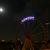 Riesenrad bei Nacht mit Mond