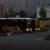Zwei Nachtbusse am Morgen
