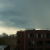 Büroausblick beim Gewitter