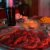 Raclette-Zutaten - Fleisch, Kräuterbutter, Mais, Käse