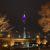 Rheinturm vom Johannes-Rau-Platz aus gesehen
