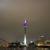 Rheinturm gesehen vom Medienhafen aus